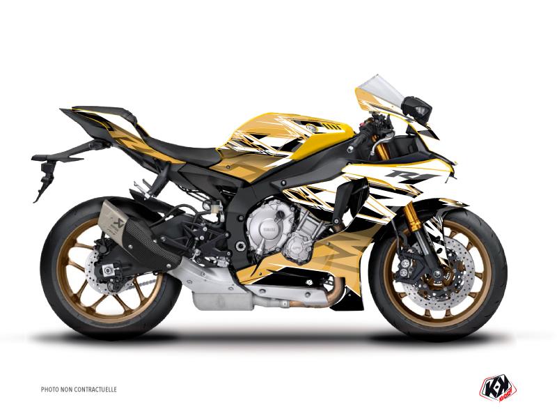 Yamaha R1 Street Bike Mission Graphic Kit Brown