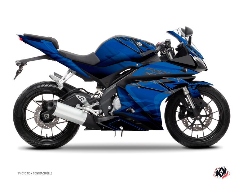 Yamaha R125 Street Bike Mission Graphic Kit Blue Black
