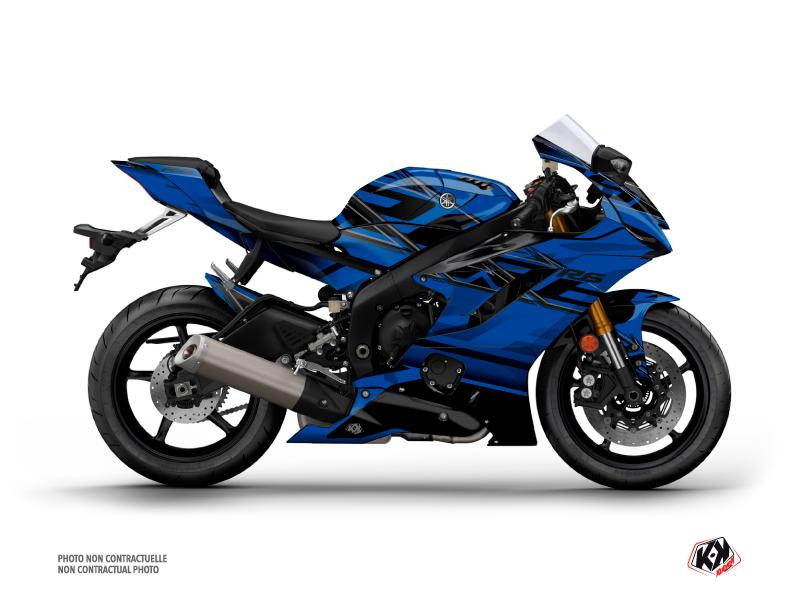 Yamaha R6 Street Bike Mission Graphic Kit Blue Black