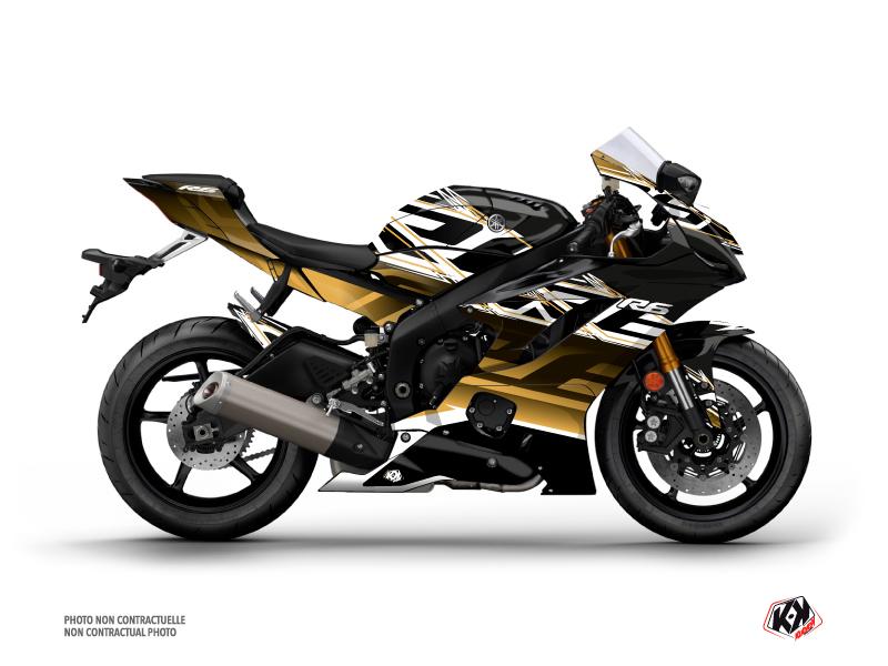 Yamaha R6 Street Bike Mission Graphic Kit Brown