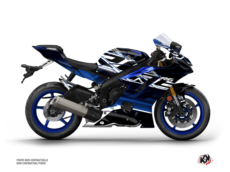 Yamaha R6 Street Bike Mission Graphic Kit Black Blue