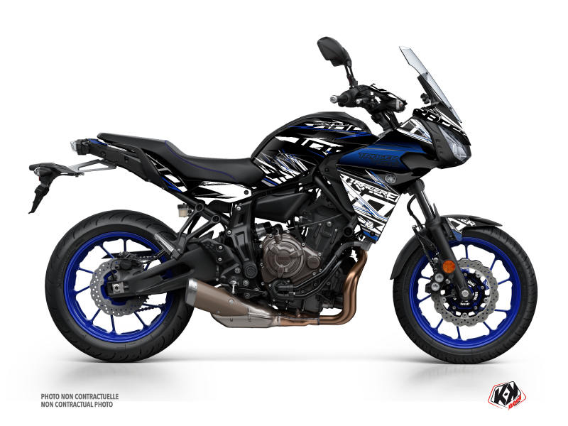 Yamaha TRACER 700 Street Bike Mission Graphic Kit Black Blue