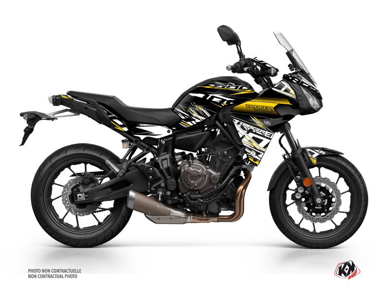 Yamaha TRACER 700 Street Bike Mission Graphic Kit Black Yellow