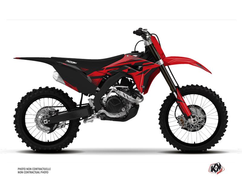 Honda 250 CRF Dirt Bike Nasting Graphic Kit Red Black