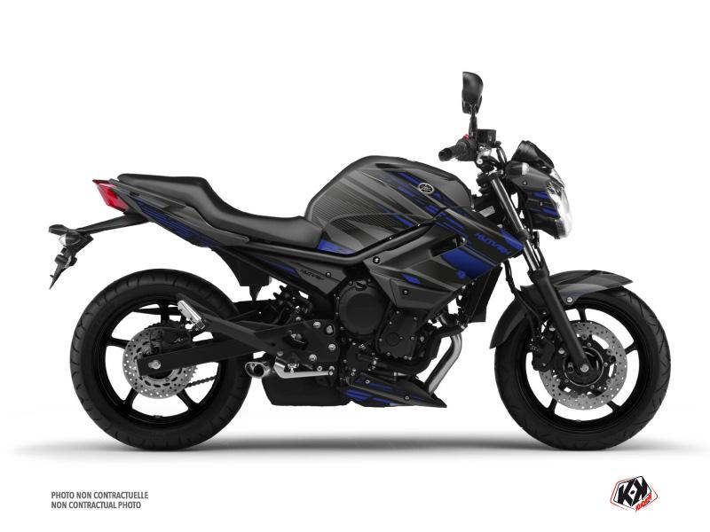 Yamaha XJ6 Street Bike Night Graphic Kit Black Blue