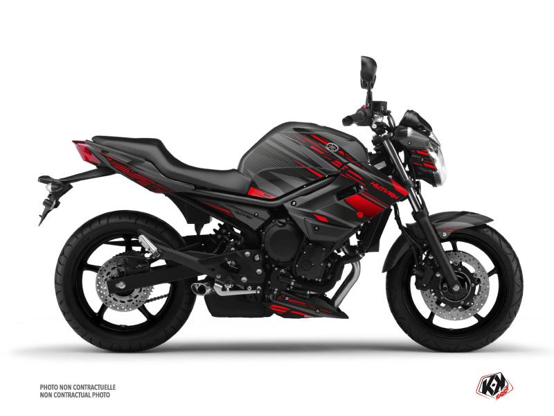 Yamaha XJ6 Street Bike Night Graphic Kit Black Red