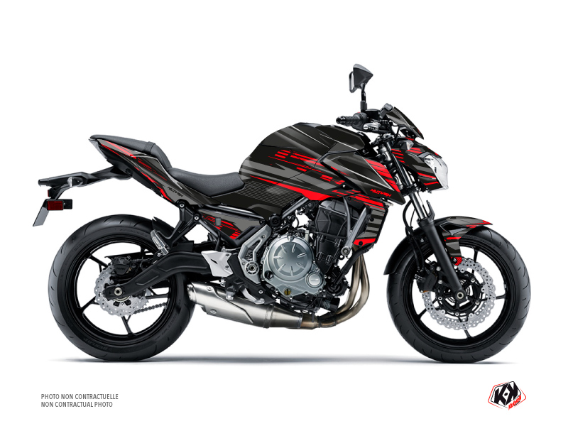 Kit Déco Moto Night Kawasaki Z 650 Noir Rouge