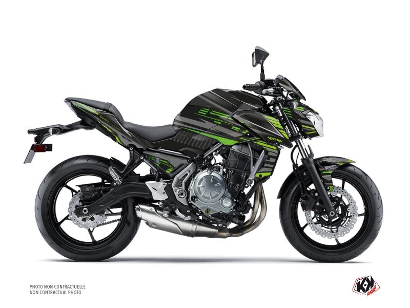 Kit Déco Moto Night Kawasaki Z 650 Noir Vert