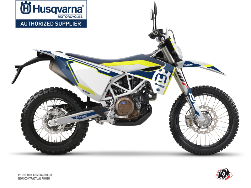 Husqvarna 701 Enduro Dirt Bike Nova Graphic Kit Blue