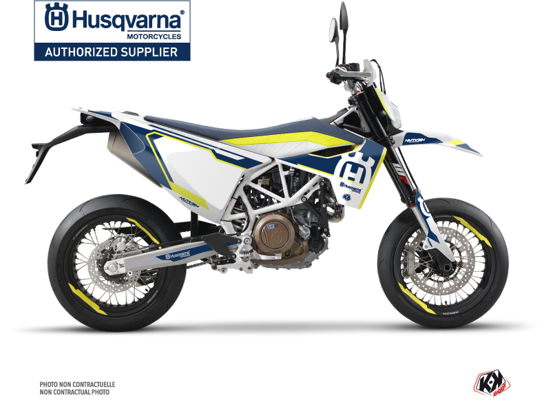 Husqvarna 701 Supermoto Dirt Bike Nova Graphic Kit Blue