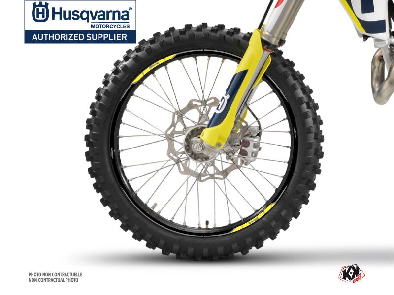 Kit Déco Tour de jantes Nova Moto Cross Husqvarna TC-FC TE-FE Noir