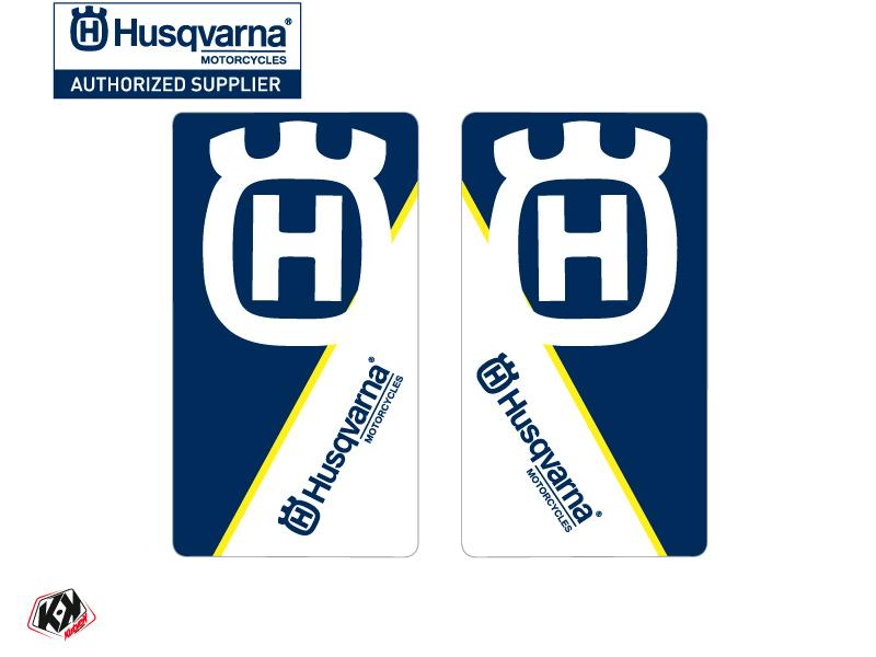 Kit Déco Stickers de fourche Nova Moto Cross Husqvarna TC-FC TE-FE Bleu