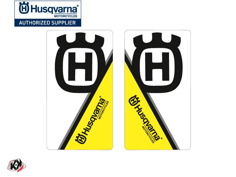 Kit Déco Stickers de fourche Nova Moto Cross Husqvarna TC-FC TE-FE Noir