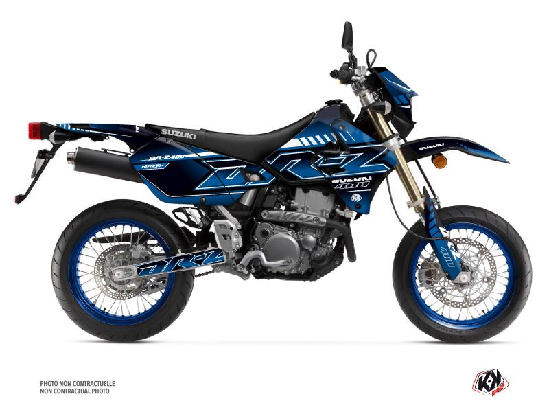 Suzuki DRZ 400 SM Dirt Bike Oblik Graphic Kit Blue
