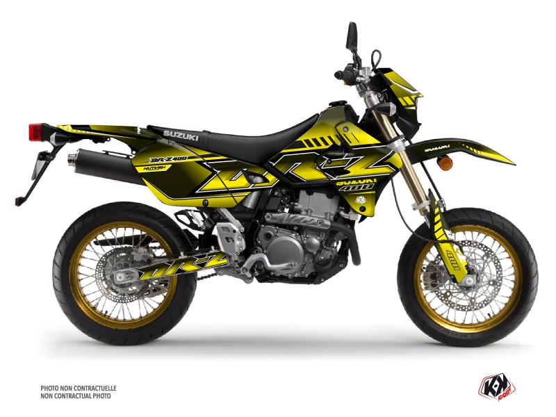 Suzuki DRZ 400 SM Dirt Bike Oblik Graphic Kit Yellow
