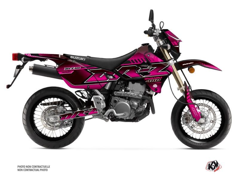 Suzuki DRZ 400 SM Dirt Bike Oblik Graphic Kit Pink