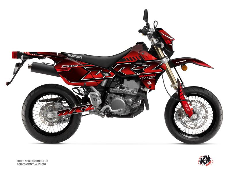 Suzuki DRZ 400 SM Dirt Bike Oblik Graphic Kit Red