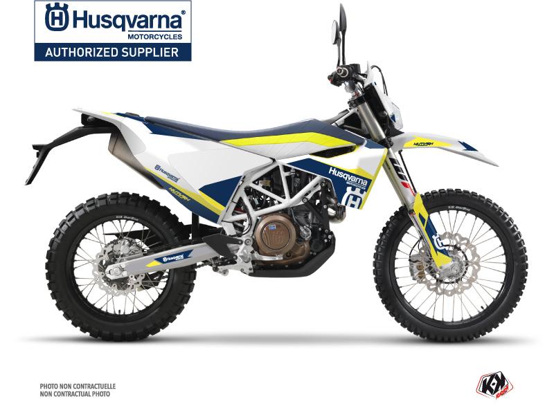 Husqvarna 701 Enduro Dirt Bike Orbit Graphic Kit White