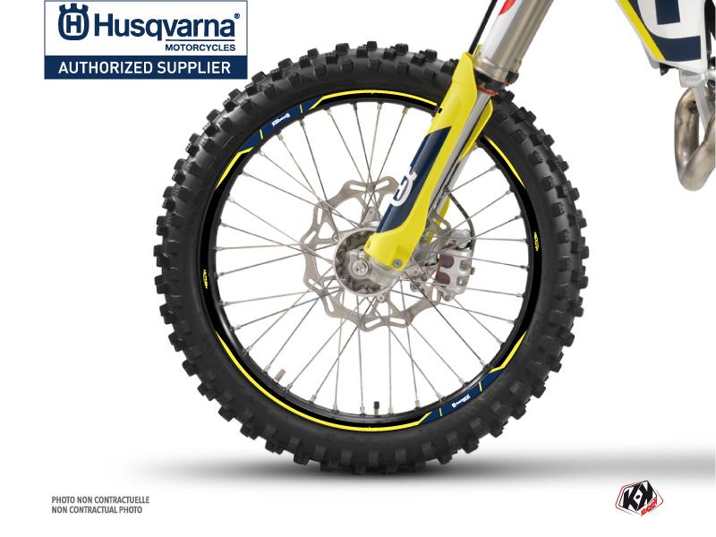 Graphic Kit Wheel decals Orbit Dirt Bike Husqvarna TC-FC TE-FE White
