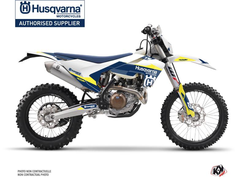 Husqvarna 150 TE Dirt Bike Orbit Graphic Kit White