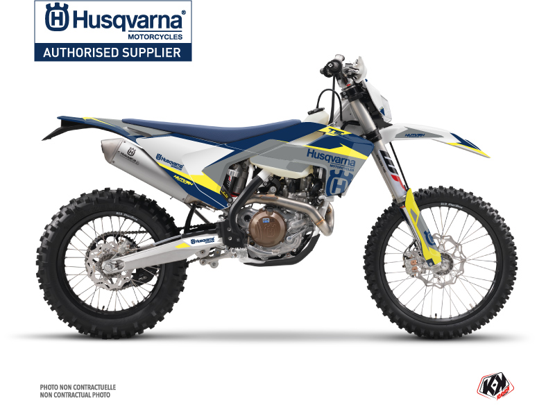 Husqvarna 150 TE Dirt Bike Orbit Graphic Kit Grey
