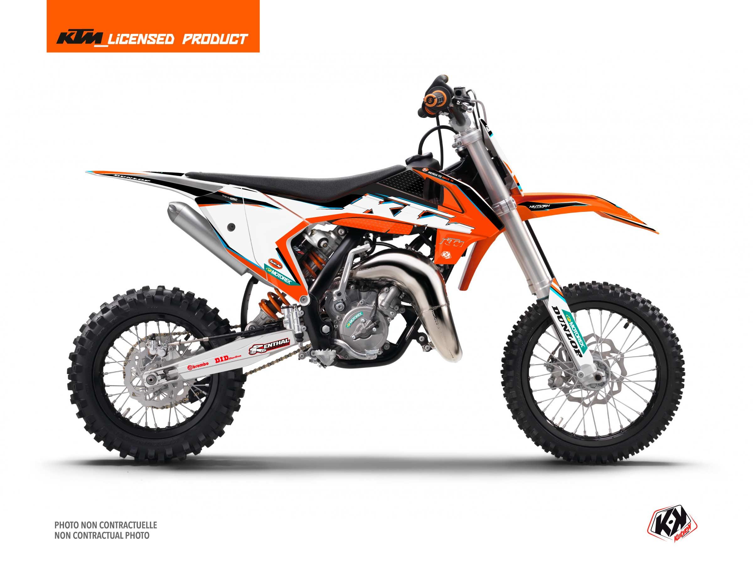 Kit Déco Moto Cross Origin-K22 KTM 65 SX Noir