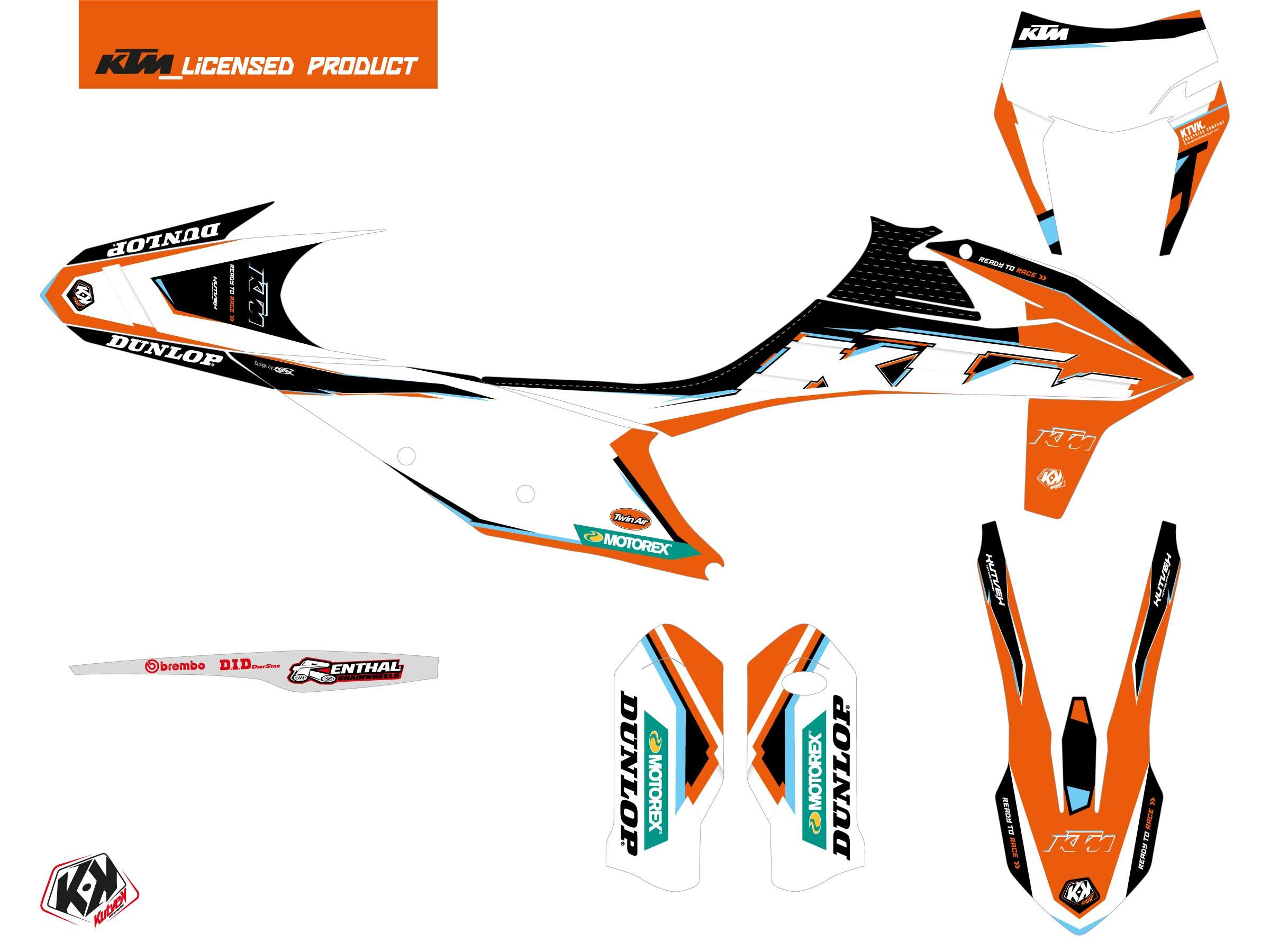 KTM EXC-EXCF Dirt Bike Origin-K22 Graphic Kit Black