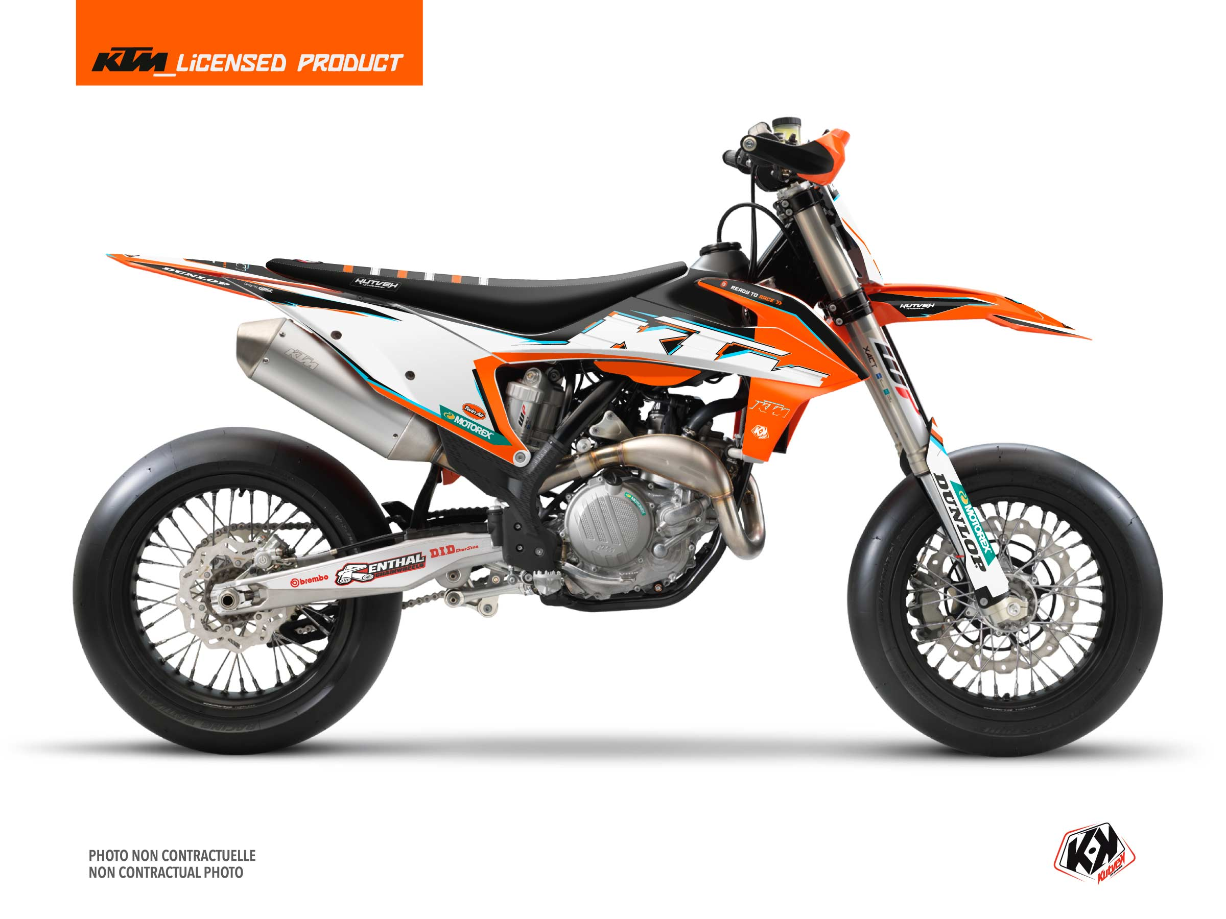 Kit déco Moto Cross Origin-K22 KTM 450 SMR Noir