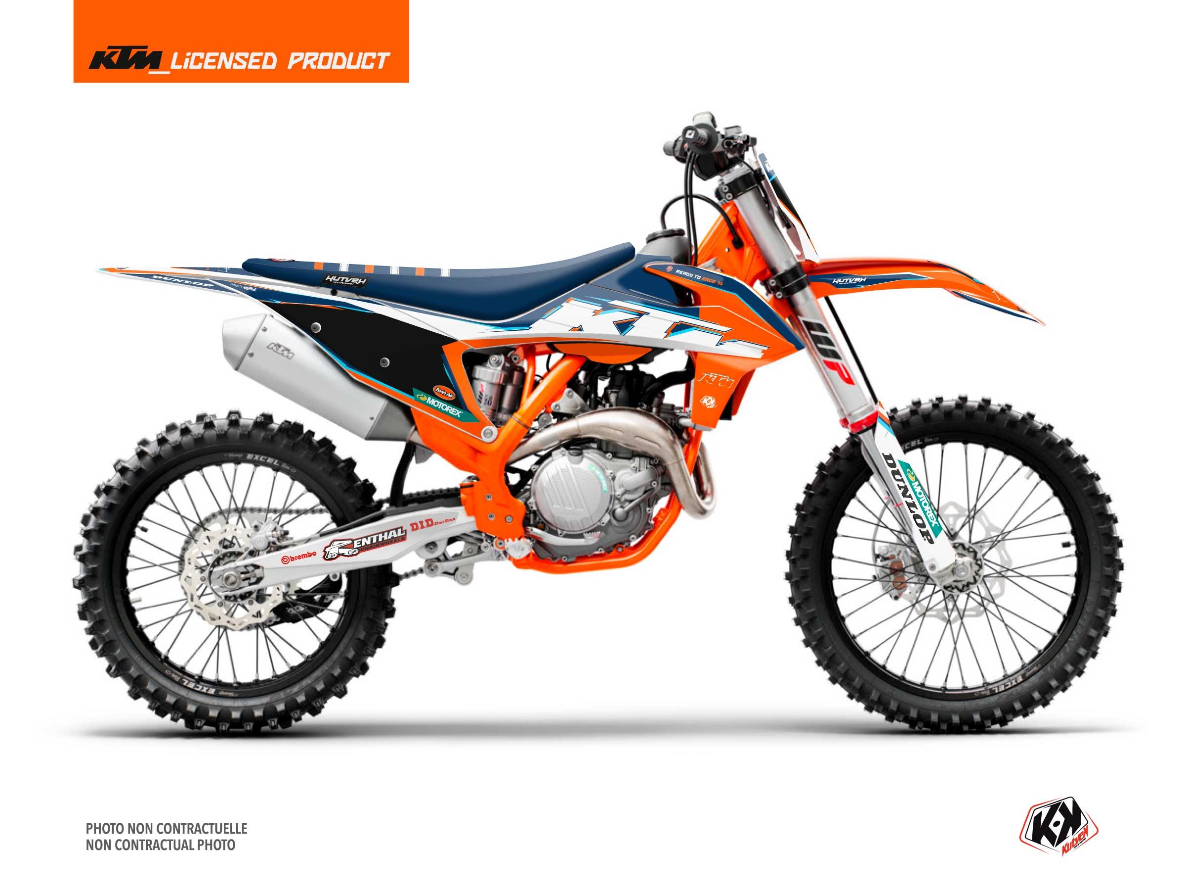 KTM 125 SX Dirt Bike Origin-K22 Graphic Kit Blue