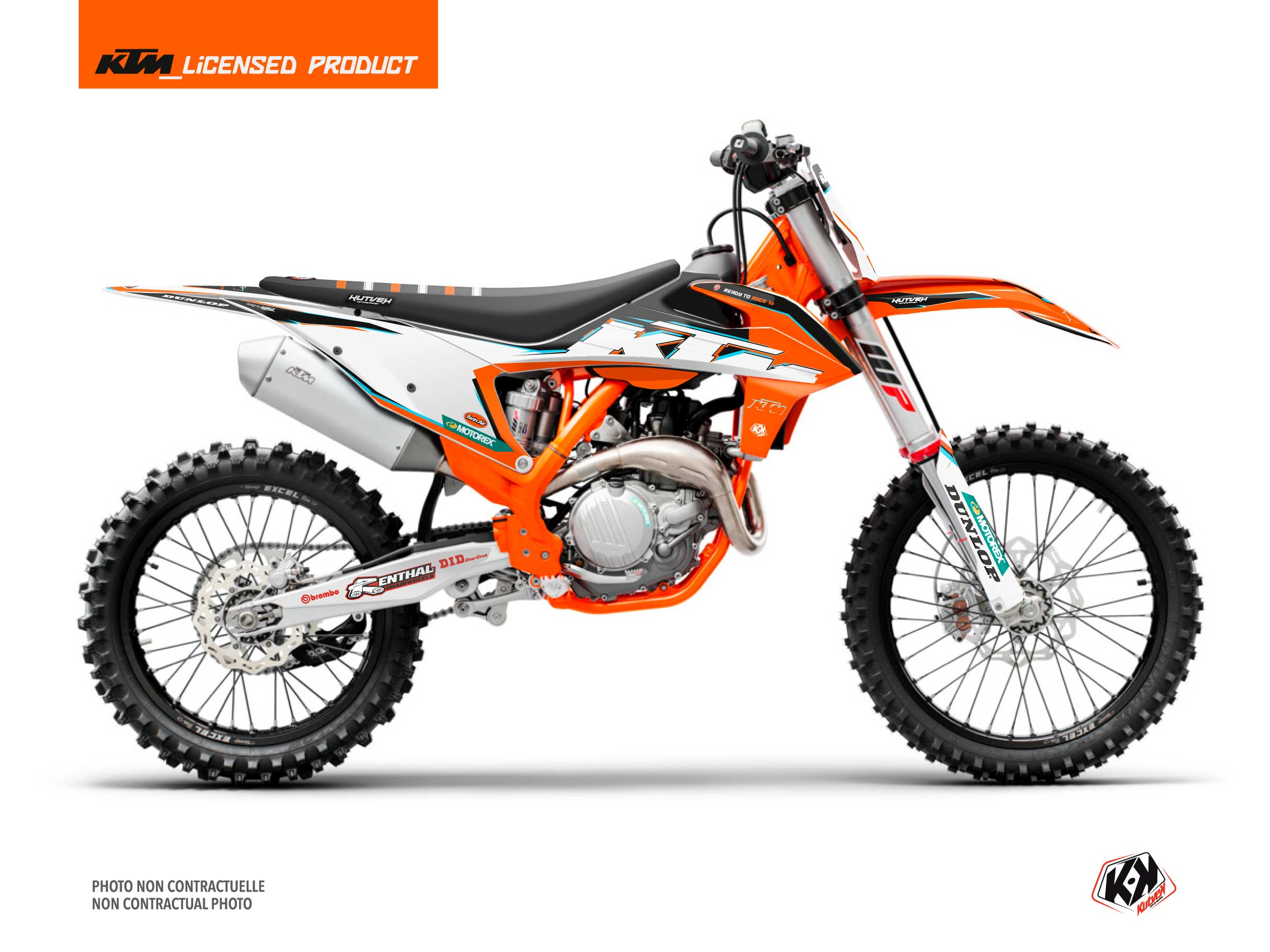 KTM 250 SX Dirt Bike Origin-K22 Graphic Kit Black