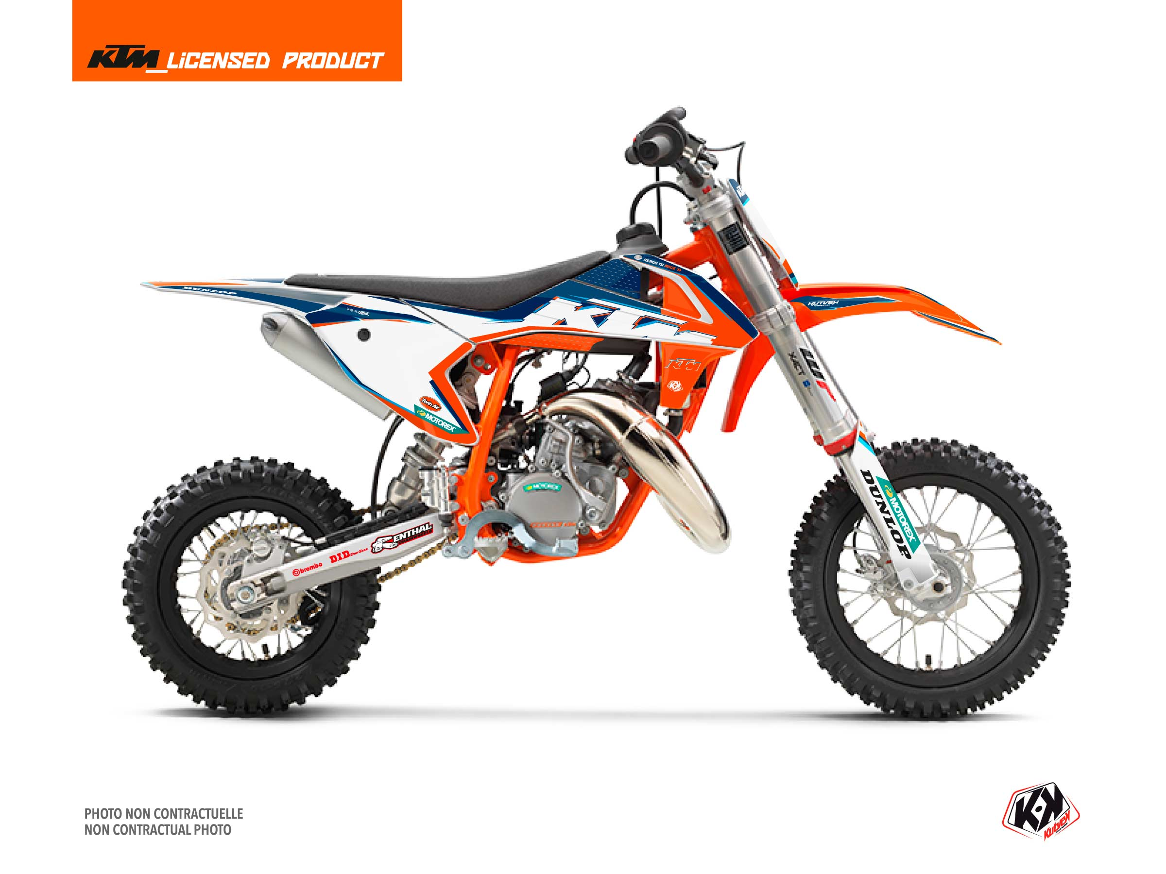 KTM 50 SX Dirt Bike Origin-K22 Graphic Kit Blue