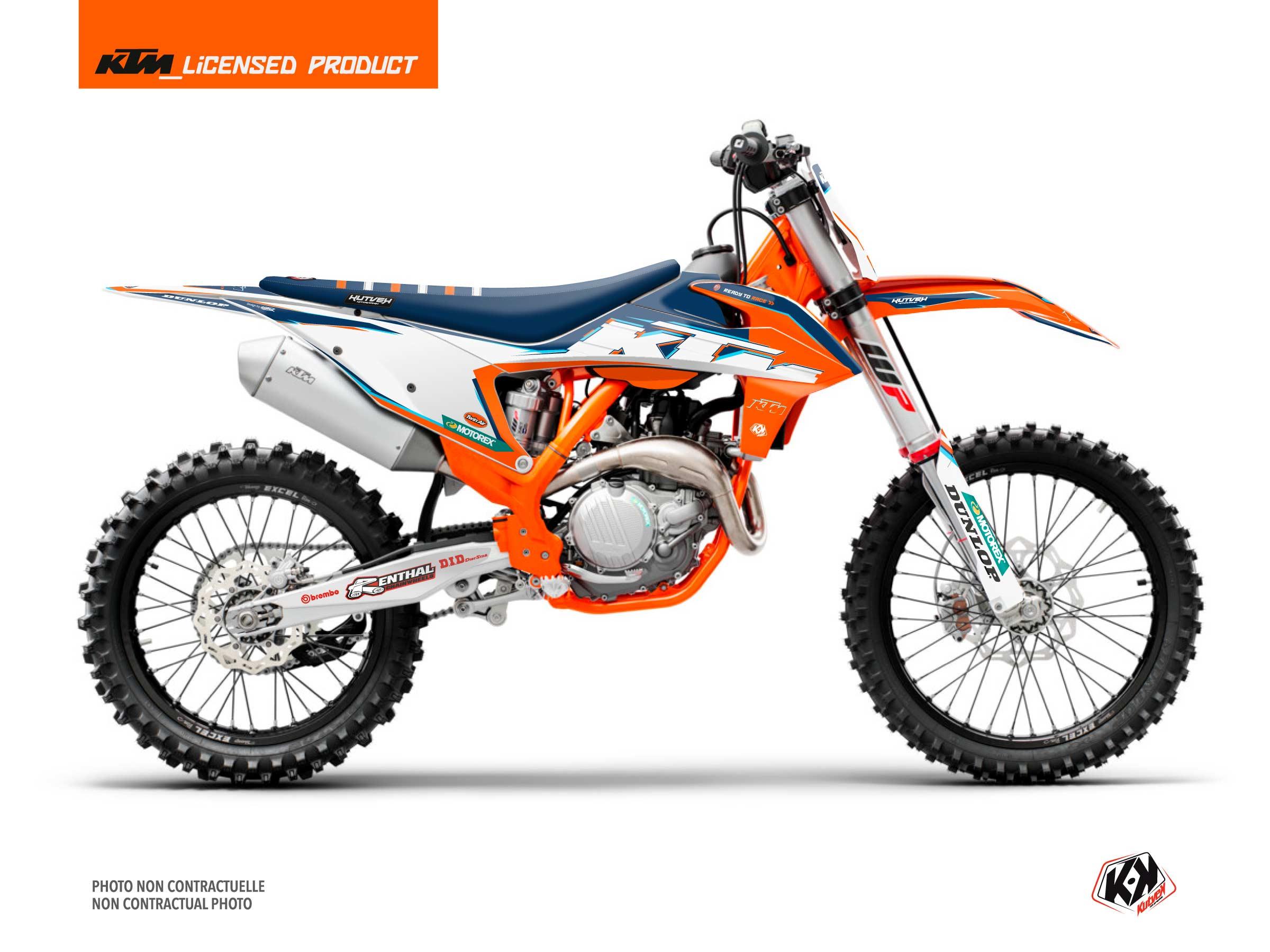 KTM 350 SXF Dirt Bike Origin-K22 Graphic Kit Blue