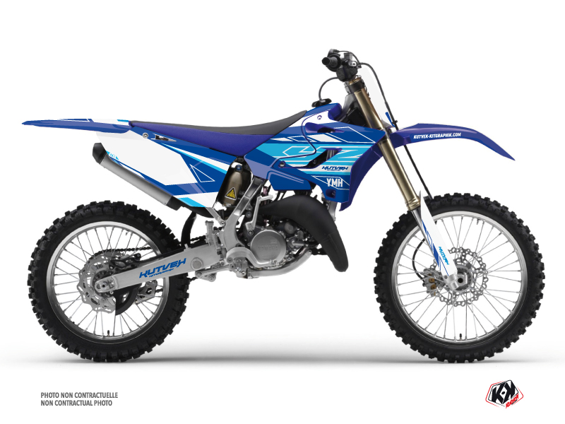 Kit Déco Moto Cross Outline Yamaha 250 YZ Bleu