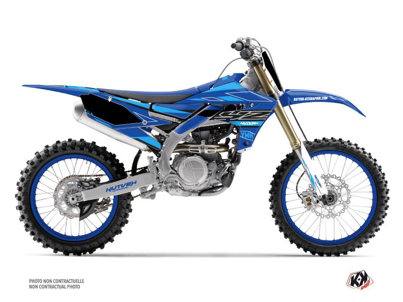 Yamaha 250 YZF Dirt Bike Outline Graphic Kit Cyan