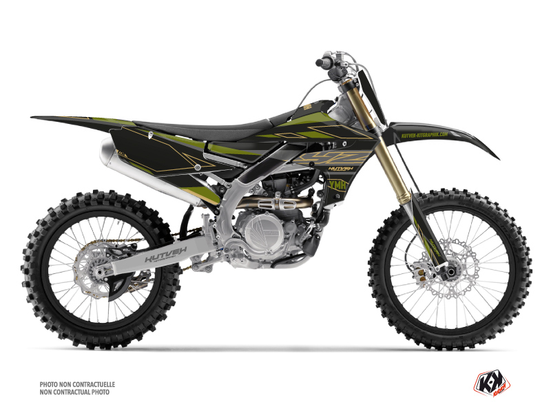 Yamaha 250 YZF Dirt Bike Outline Graphic Kit Kaki