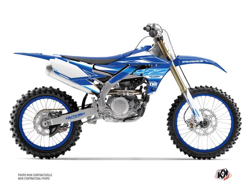 Yamaha 450 YZF Dirt Bike Outline Graphic Kit Blue