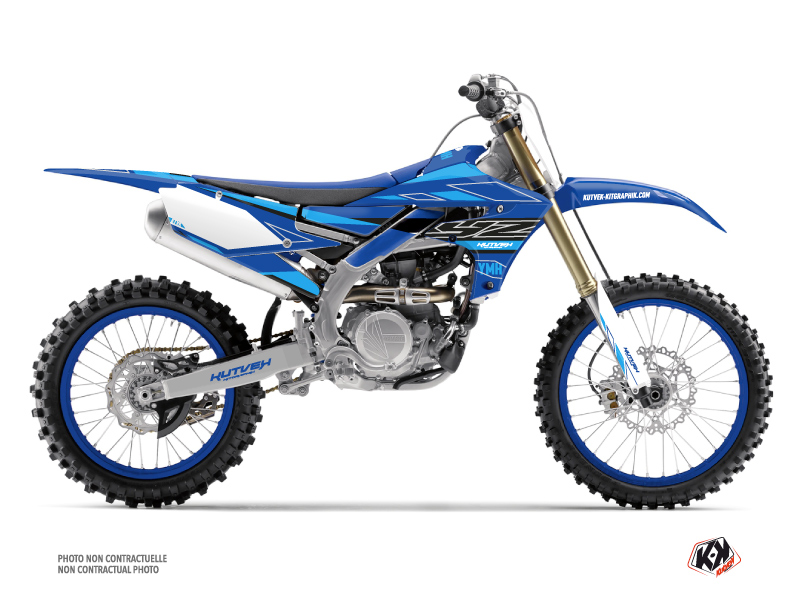 Yamaha 450 YZF Dirt Bike Outline Graphic Kit Cyan