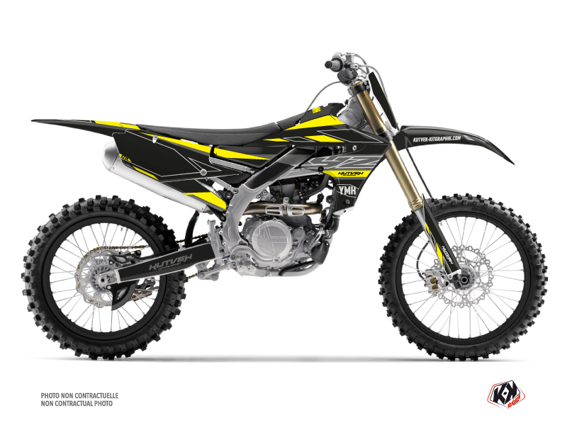 Yamaha 450 YZF Dirt Bike Outline Graphic Kit Yellow