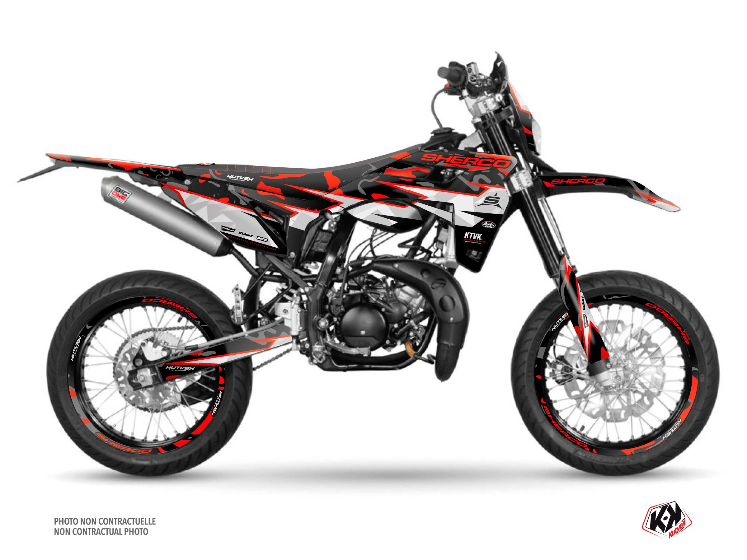 PACK BARBARIAN Graphic Kit + Seat Cover Sherco SM 50 Red