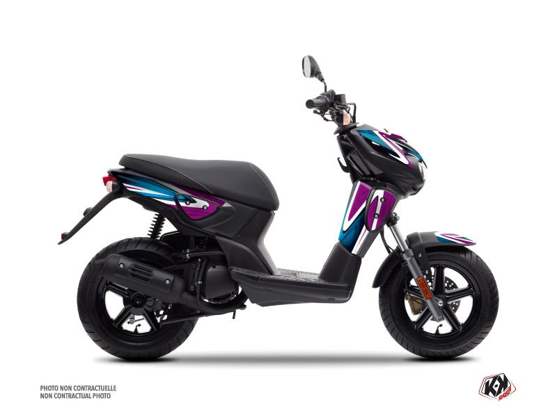 Yamaha Slider Scooter Painting Graphic Kit Purple