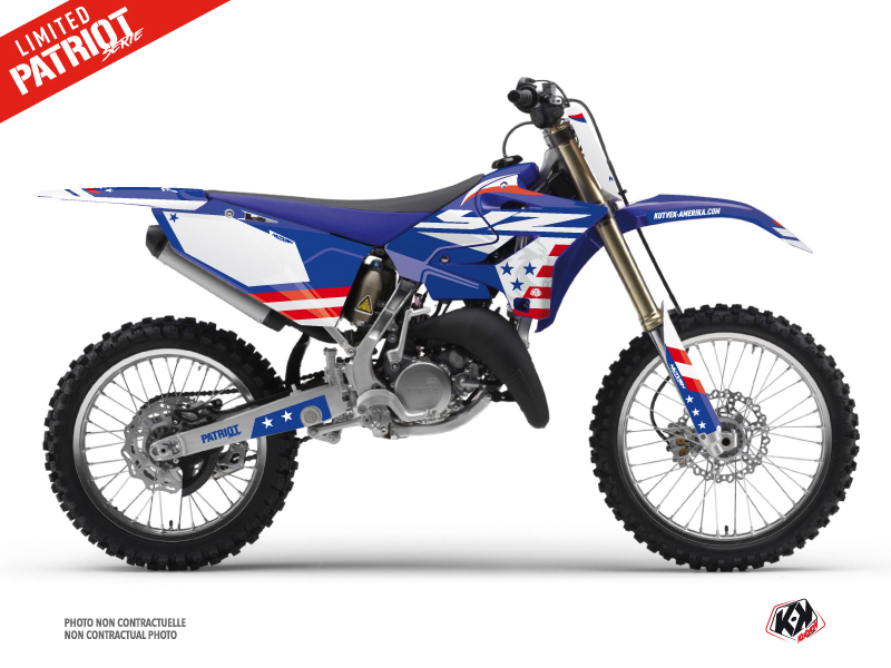 Kit Déco Moto Cross Patriot Yamaha 250 YZ Bleu