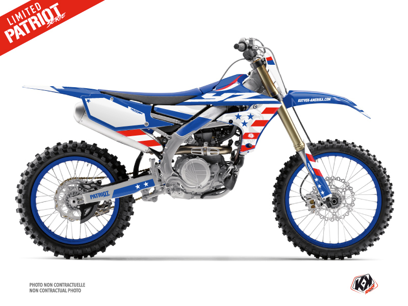 Yamaha 450 YZF Dirt Bike Patriot Graphic Kit Blue