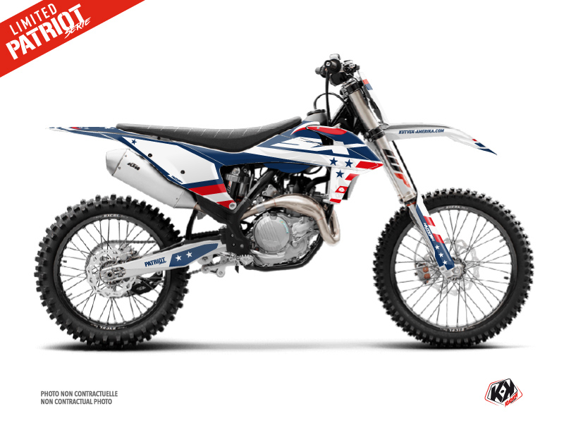 KTM 125 SX Dirt Bike Patriot Graphic Kit Blue