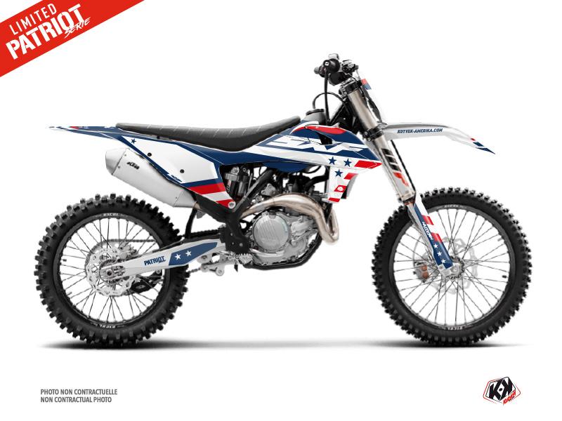 KTM 350 SXF Dirt Bike Patriot Graphic Kit Blue