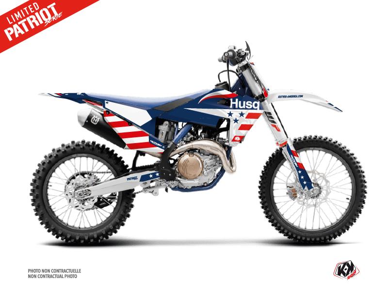 Husqvarna TC 250 Dirt Bike Patriot Graphic Kit Blue