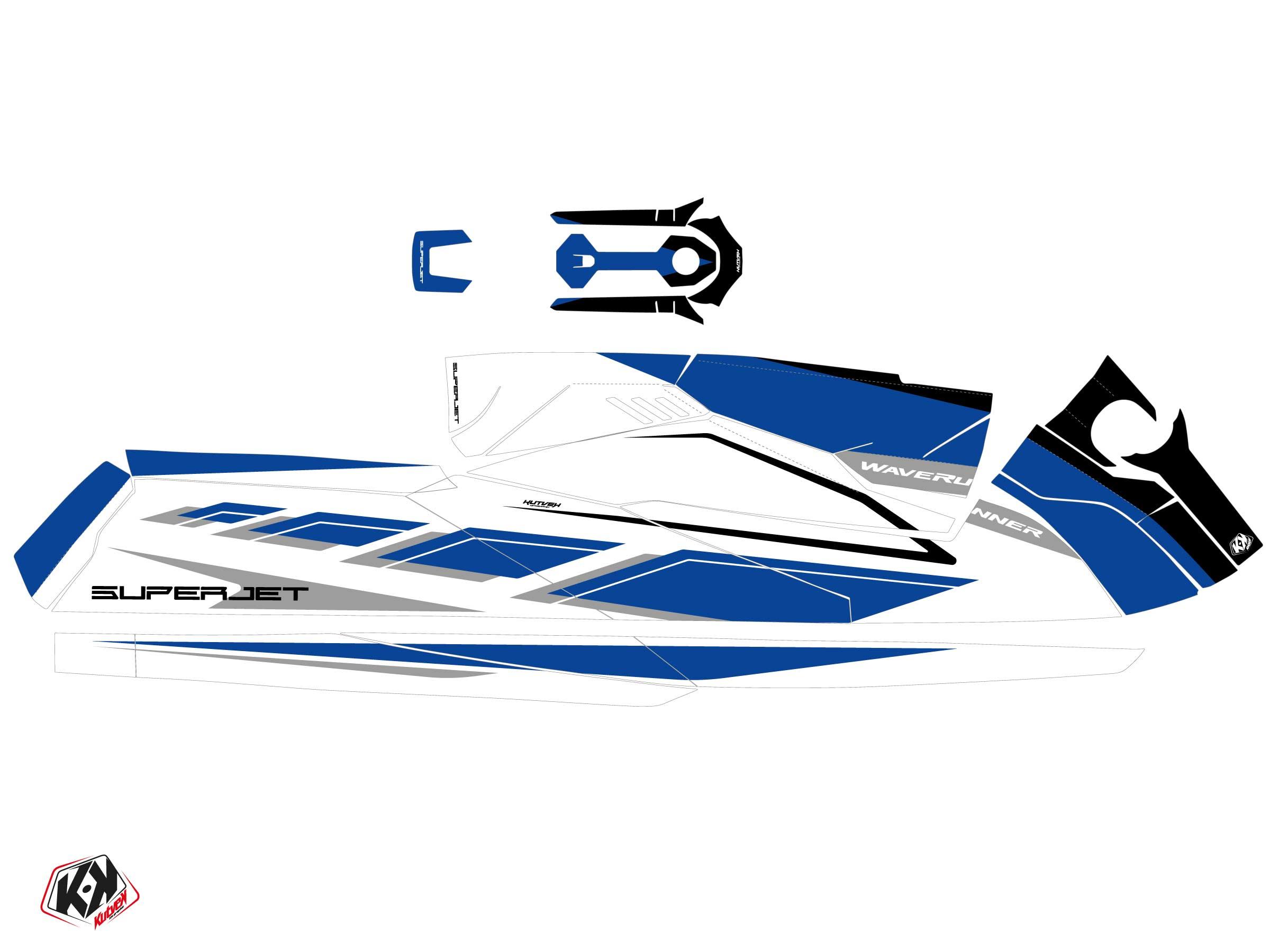 Yamaha Superjet 2021 Jet-Ski PERF Graphic Kit White