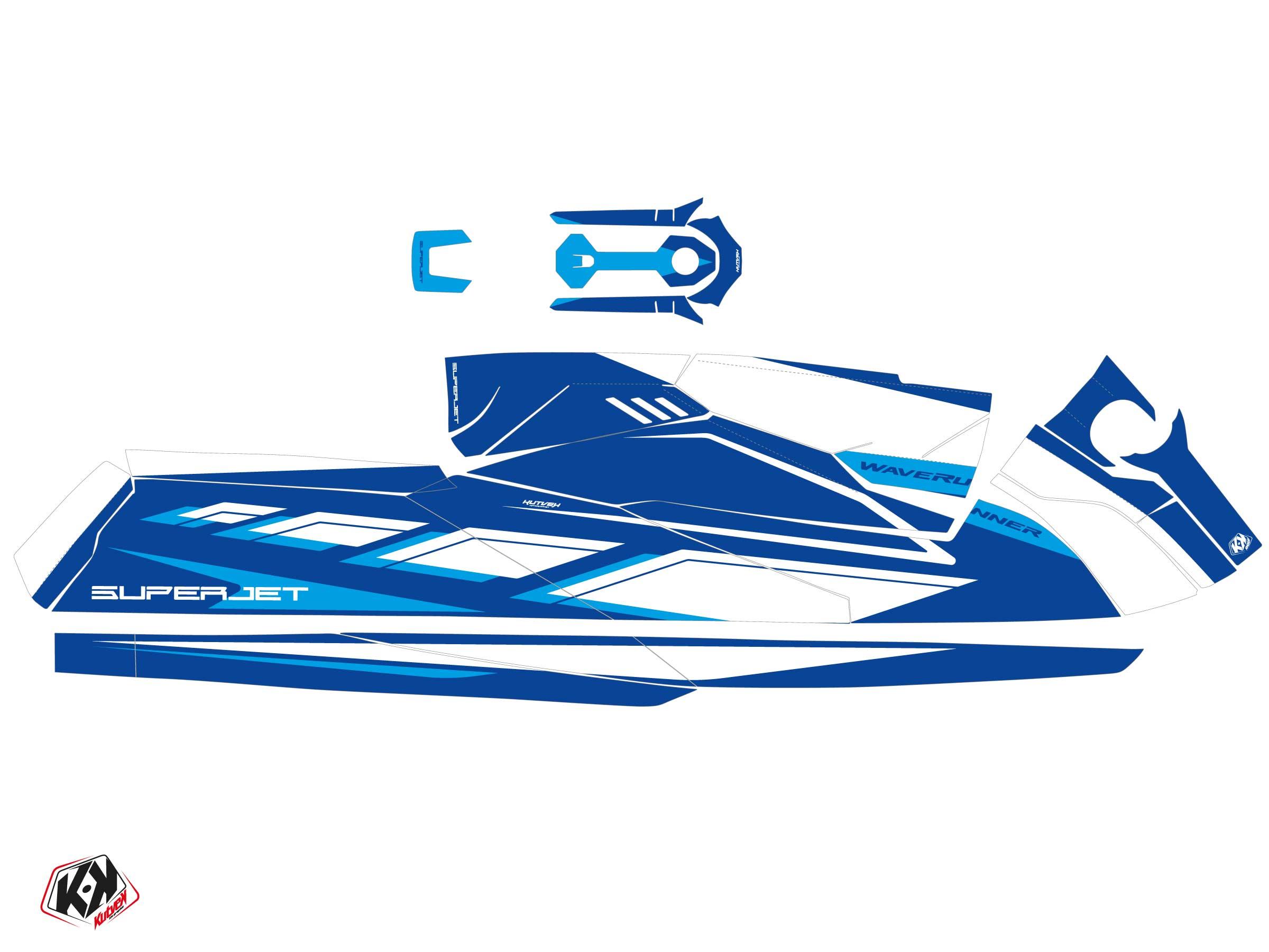 Yamaha Superjet 2021 Jet-Ski PERF Graphic Kit Blue