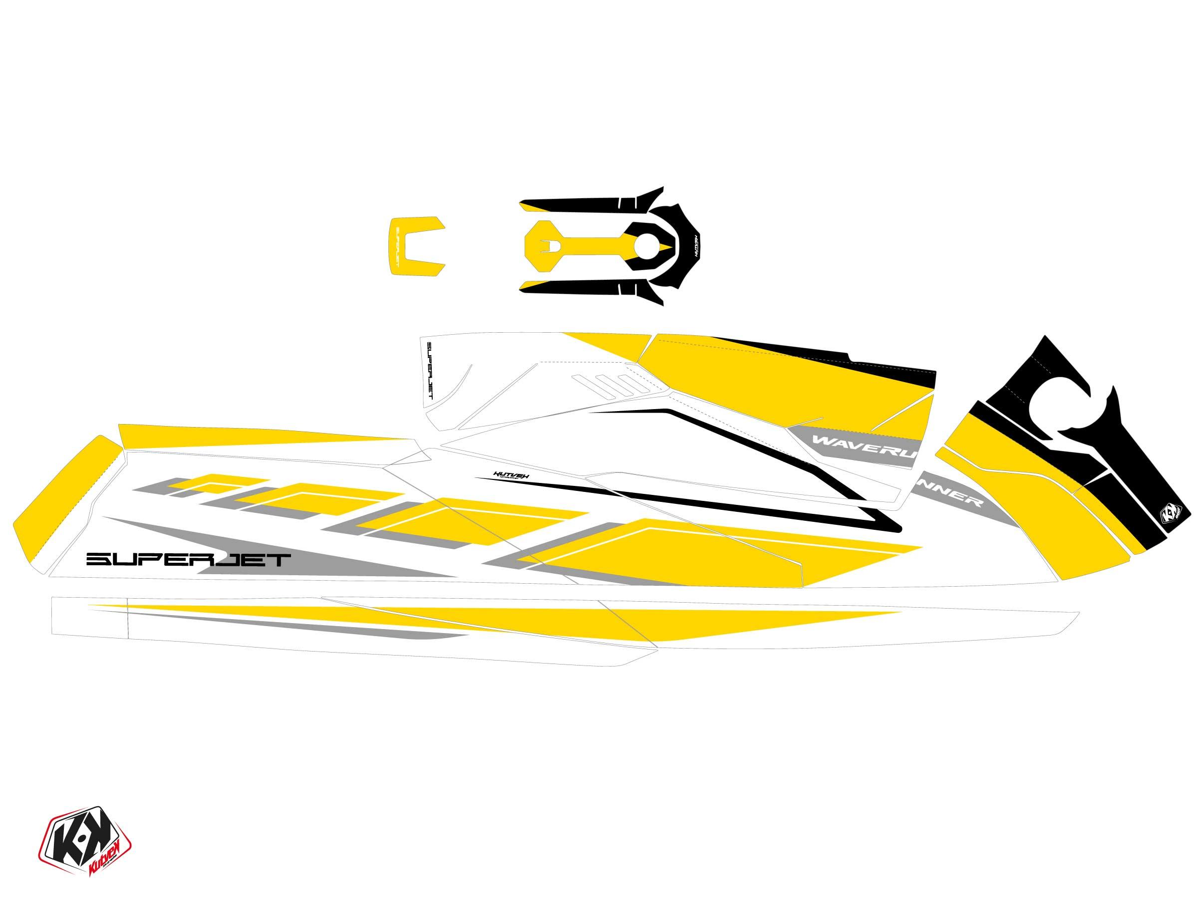 Yamaha Superjet 2021 Jet-Ski PERF Graphic Kit Yellow