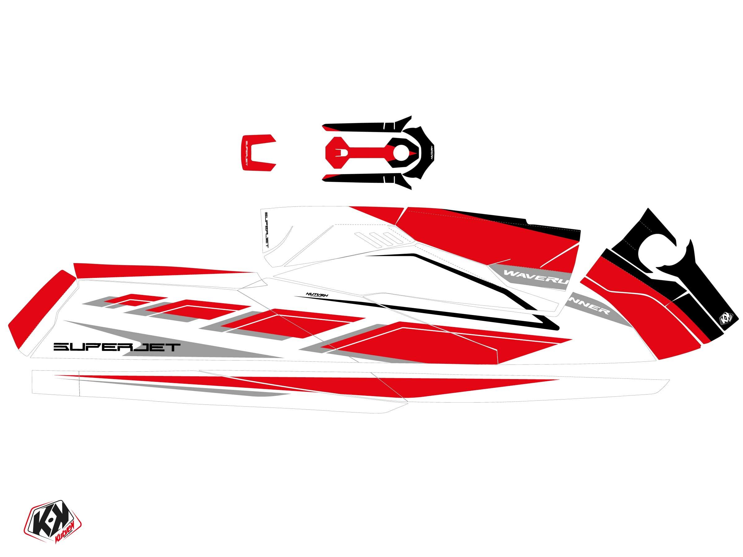 Yamaha Superjet 2021 Jet-Ski PERF Graphic Kit Red