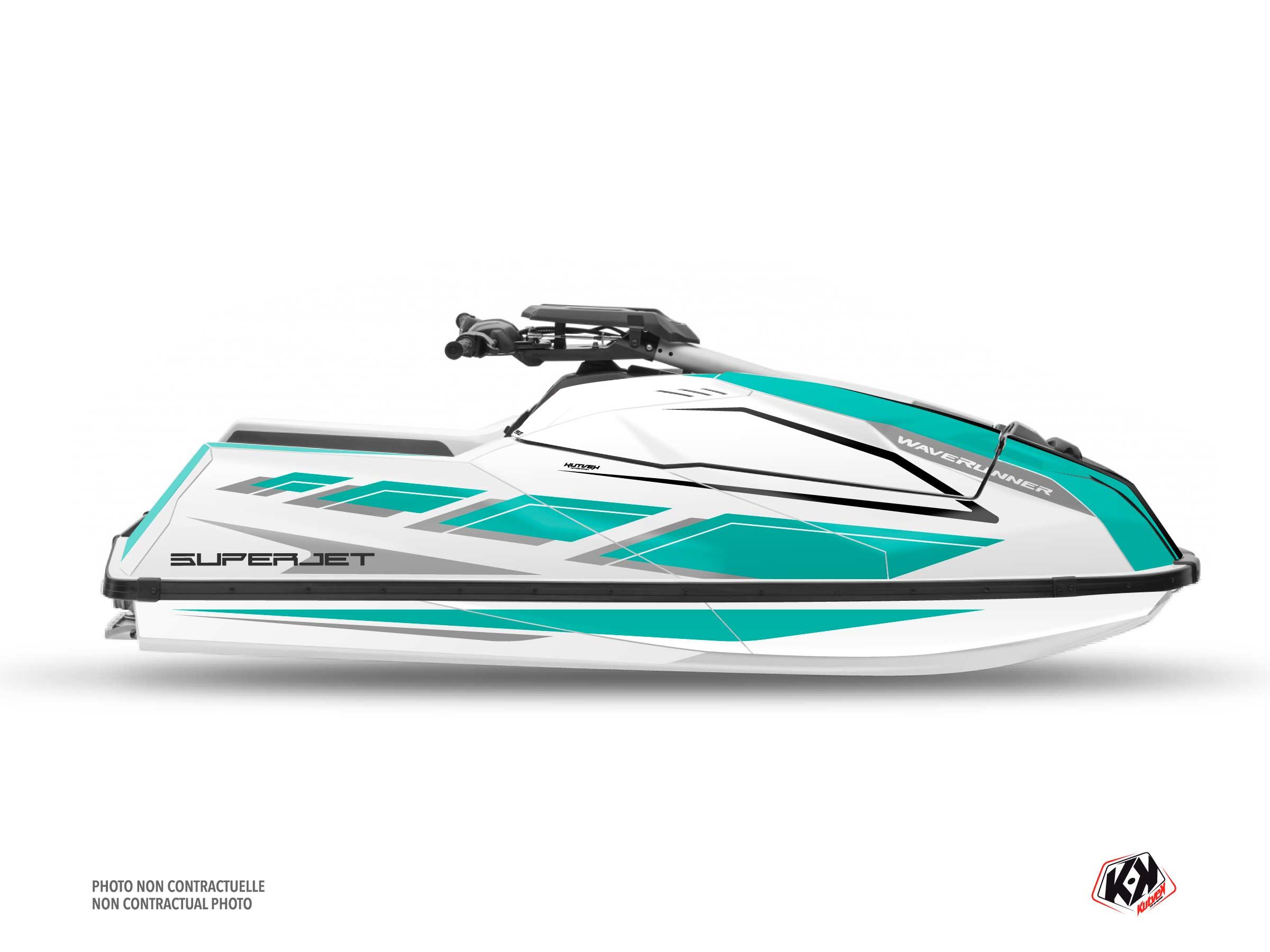 Kit Déco Jet-Ski PERF Yamaha Superjet 2021 Turquoise